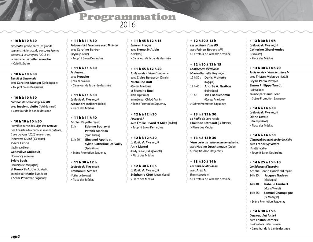Programmation 2016 - page 3