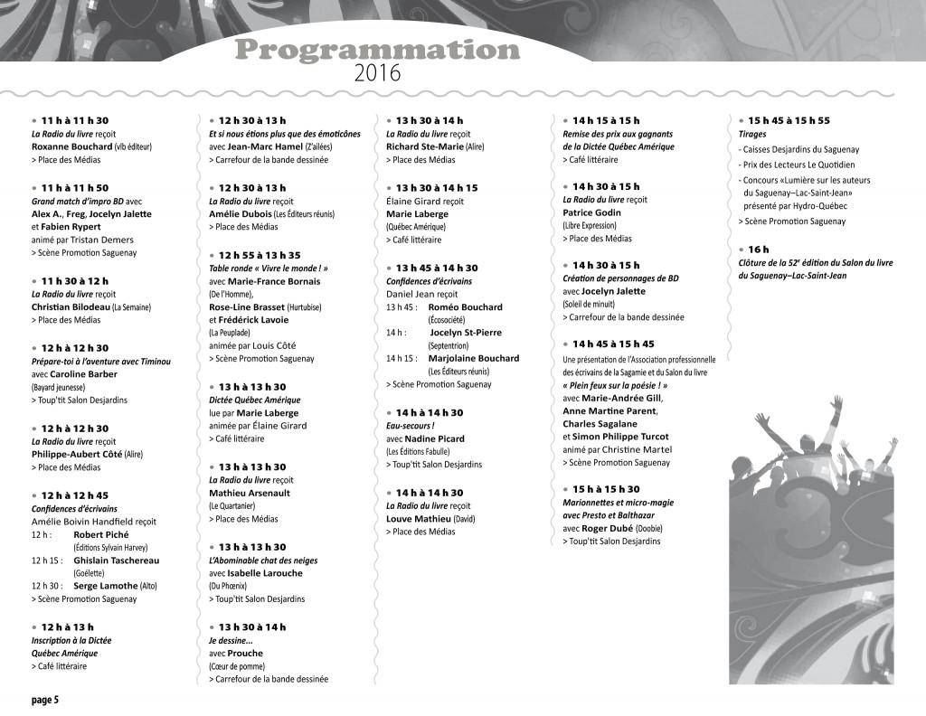 Programmation 2016 - page 5